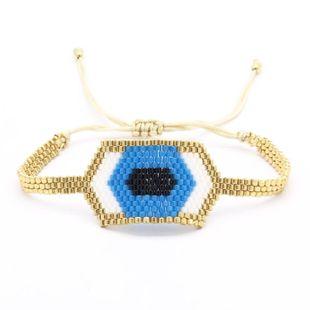 Hand-woven bracelet eye Miyuki rice beads weave Eye Famari NHGW176438's discount tags