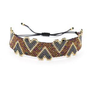 New Miyuki Simple Bracelet DB Antique Rice Beads Hand-knitted Classic Love Heart Shaped Pattern NHGW176448's discount tags