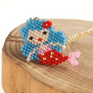 New Mermaid Women's Necklace Miyuki Rice Beads Weave Mermaid Jewelry NHGW176449's discount tags