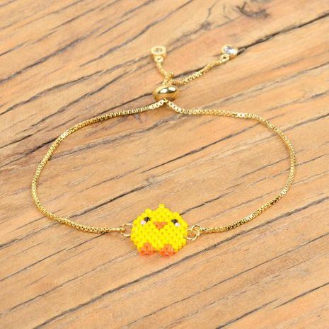Mini chick Miyuki rice beads woven new female bracelet vacuum color gold plating adjustable jewelry NHGW176458's discount tags