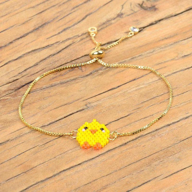 Mini chick Miyuki rice beads woven new female bracelet vacuum color gold plating adjustable jewelry NHGW176458
