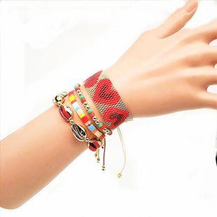 TILA Miyuki rice beads braided women's bracelet set jewelry NHGW176460's discount tags