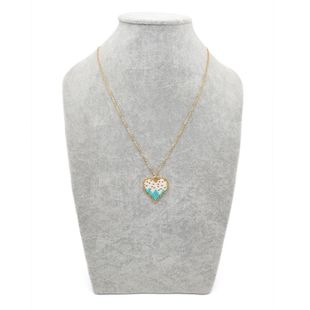 Heart-shaped Miyuki ladies necklace rice beads woven jewelry stainless steel gold plating color NHGW176464's discount tags