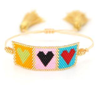 Miyuki rice beads woven bohemian simple original love fashion ladies bracelet NHGW176465's discount tags