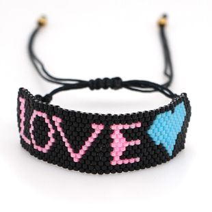 New Miyuki rice beads woven letters LOVE love ladies jewelry NHGW176466's discount tags