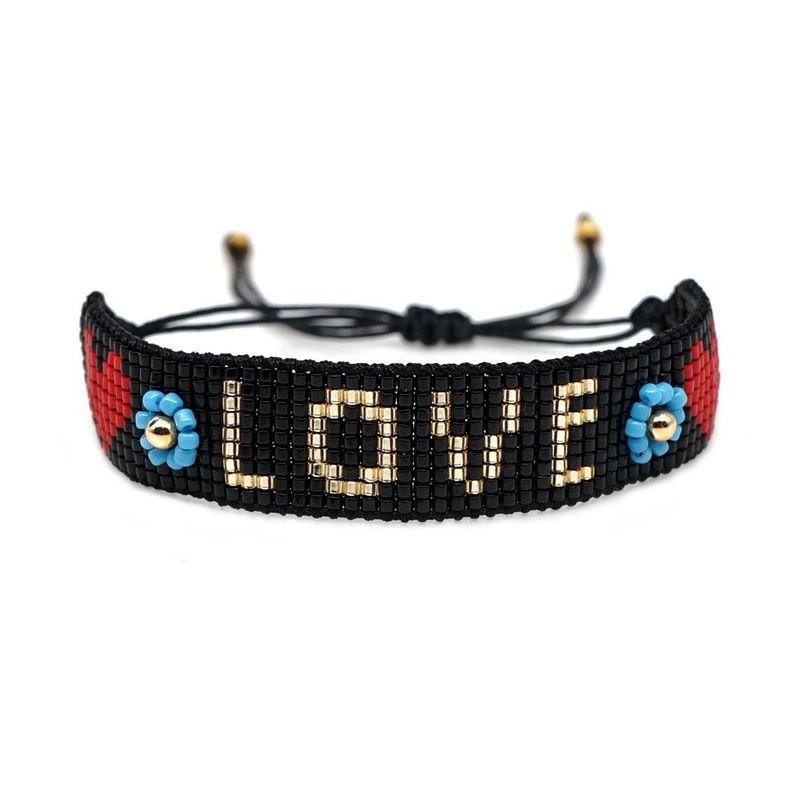 Miyuki simple female bracelet DB antique rice beads woven love pattern bracelet NHGW176467