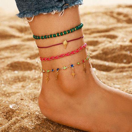 Nouveaux pieds simple couleur strass foudre multicouche gland cheville 4 pièces ensemble femelle NHGY176550's discount tags