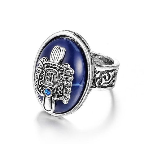 Punk Vampire Diaries Bohemian Carving Pattern Alloy Natural Lapis Ring NHGY176554's discount tags