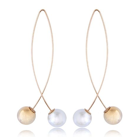European and American fashion wild metal pearl personality simple earrings earrings NHSC176557's discount tags