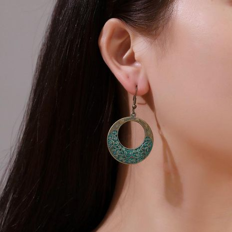 New earrings ancient bronze round pattern earrings female NHDP176390's discount tags