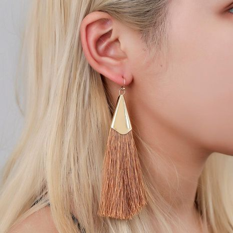 Hot earrings long tassel earrings temperament autumn and winter earrings women NHDP176408's discount tags
