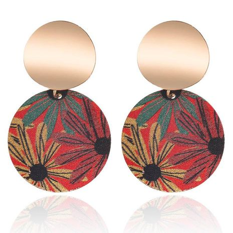 Earrings new frosted sequins earrings fashion simple color flower pattern earrings NHPF176422's discount tags