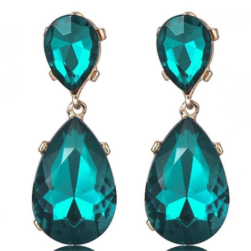 Earrings drop diamonds personalized high-end elegant wild women's earrings accessories NHPF176425