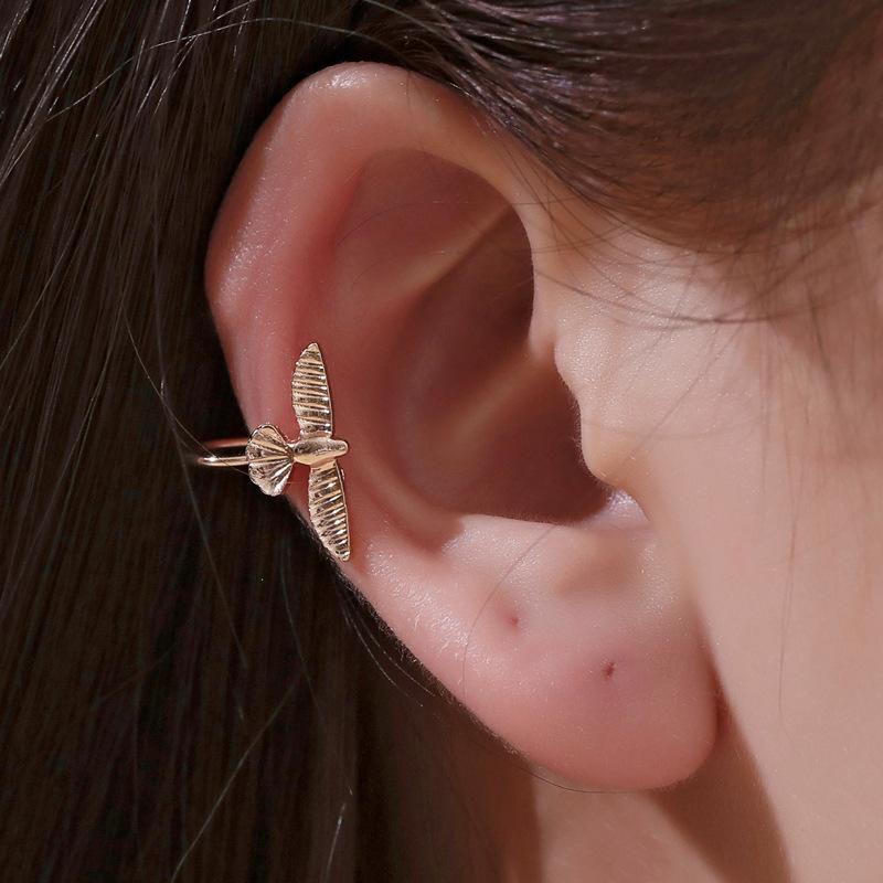 Fashion simple bird ear clip retro earless single bird ear bone clip trend men and women earrings NHDP176376