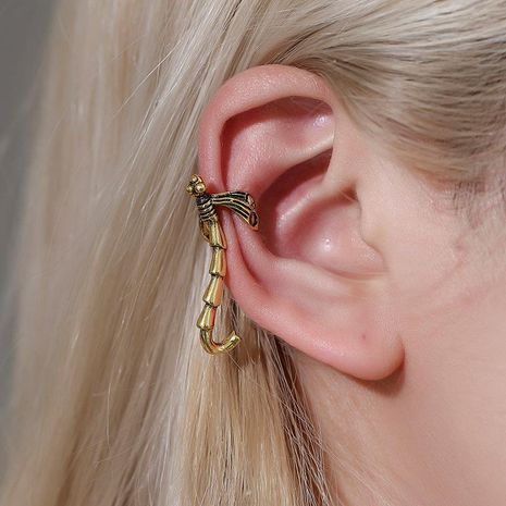 Retro ear pierced ear bone clip Gothic punk insect single long ear clip female NHDP176379's discount tags