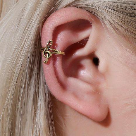 Aretes de hombres y mujeres retro notas simples personalidad clip de oreja sin clip de hueso de oreja perforada única moda NHDP176388's discount tags
