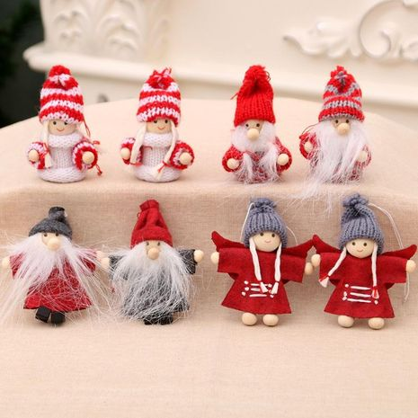 Christmas decorations doll pendant Christmas tree pendant shopping hotel window display couple small hanging gift NHMV176255's discount tags