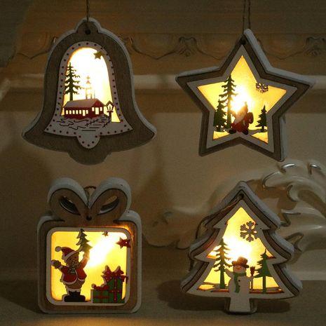 New Christmas decorations Christmas lights with lights wooden pendants Christmas tree pendant Christmas gifts NHMV176258's discount tags