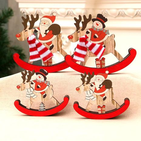 Christmas Decorations Christmas Wooden Swing Trojan Christmas Gifts Santa Claus Gifts Decoration NHMV176263's discount tags