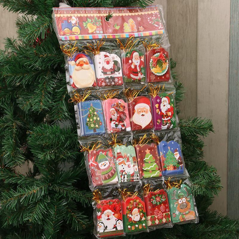Christmas small greeting card Christmas tree wish card small hanging card small card Christmas decoration card blessing wish card NHMV176267