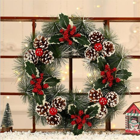 New Christmas decorations pine cones hotel shopping mall decorations door hanging high-grade pine needle ornaments NHMV176271's discount tags