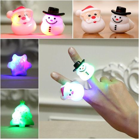 Christmas Gifts Gifts Prom Party Fingers Toys Christmas Light Rings Adult Children's Universal NHMV176274's discount tags