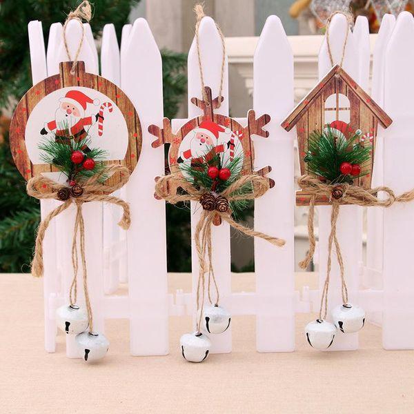 Christmas Decoration Christmas Bell Pendant Christmas New Bell Decoration Christmas Tree Door Pendant NHMV176254