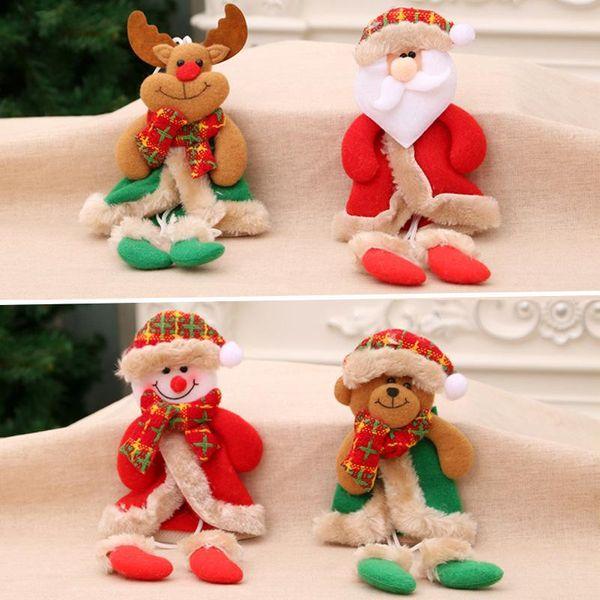 Christmas Ornaments Christmas Legs Pendant Christmas Gifts Small Fabric Christmas Tree Pendant Small Dolls NHMV176266