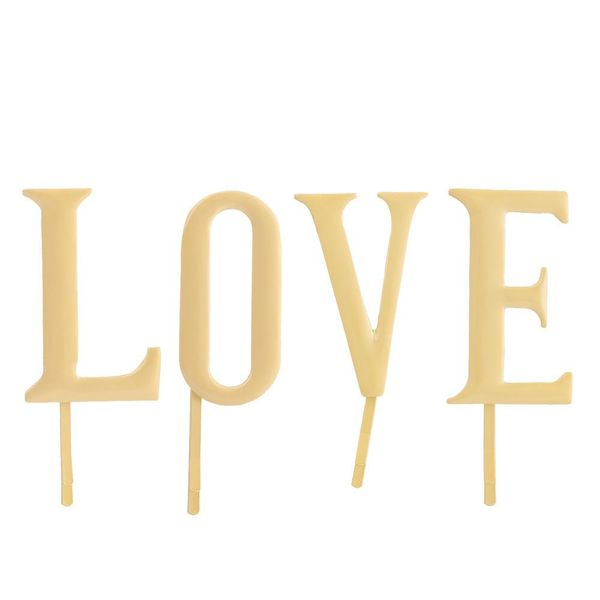 Hair accessories alloy simple LOVE letter hairpin word clip set NHHN176480