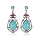 Earrings female dripping geometric turquoise earrings temperament gemstone earrings NHDP176383