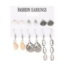 Earrings Summer Ocean Wind Shell Set Earrings 6 Pairs Pearl Conch Stud Earrings NHDP176407