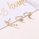 Best selling set without pierced earrings full of diamonds stars 3 sets of ear clips female NHDP176374