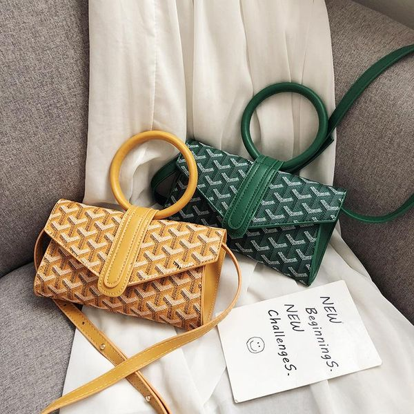 New PU small square bag women's shoulder bag art small fresh phone bag NHPB176616