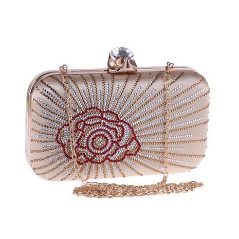 Nuevo bolso de cena para mujer, bolso de embrague de perforación en caliente, caja dura, bolso cuadrado pequeño, bolso de vestir para mujer NHYG176836's discount tags