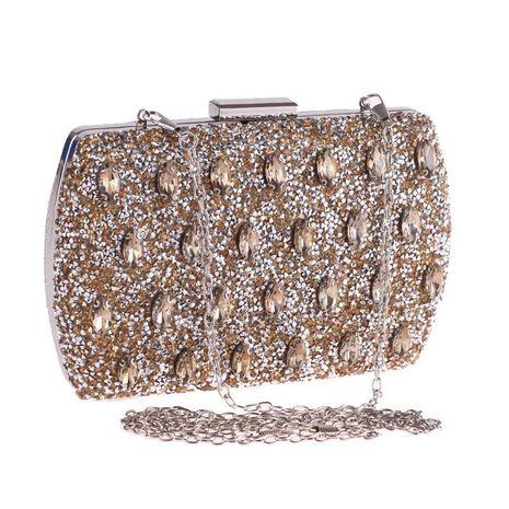Nuevo bolso de noche con incrustaciones de diamantes vestido de noche para mujer vestido de fiesta NHYG176839's discount tags