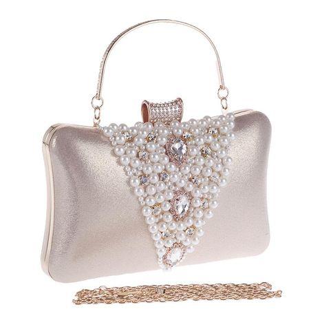 Bolso de mujer bolso de fiesta de noche de diamantes cóctel bolso de perlas bolso de vestir NHYG176840's discount tags
