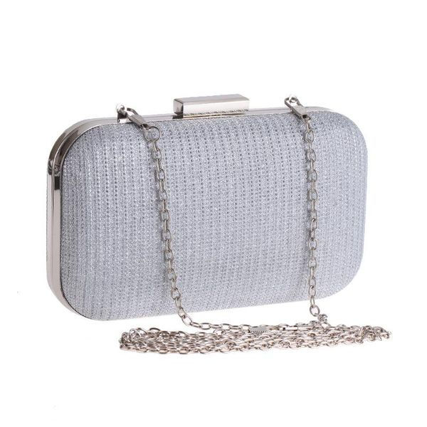 Female bag evening banquet clutch bag female bag chain small box bag square hard shell handbag NHYG176841