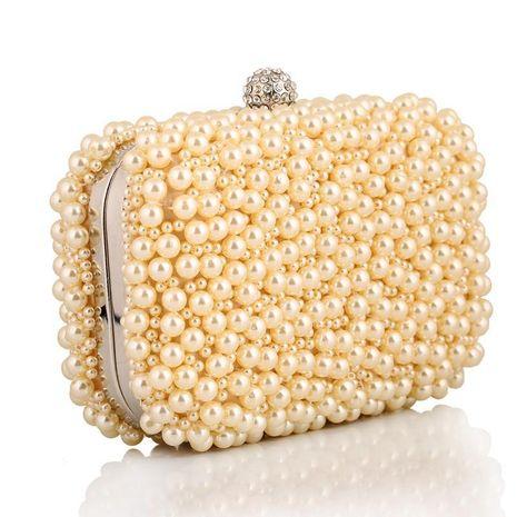 Exquisito bolso de cena bolso de perlas bolso de embrague regalo de artesanías de moda paquete de oro NHYG176843's discount tags