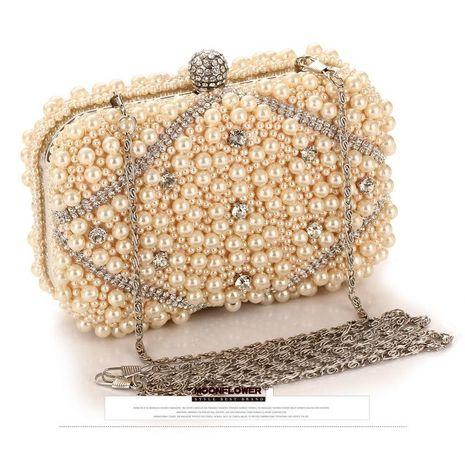 Nuevo bolso de marea bolso femenino bordado con cuentas artesanía paquete de fiesta de noche NHYG176844's discount tags