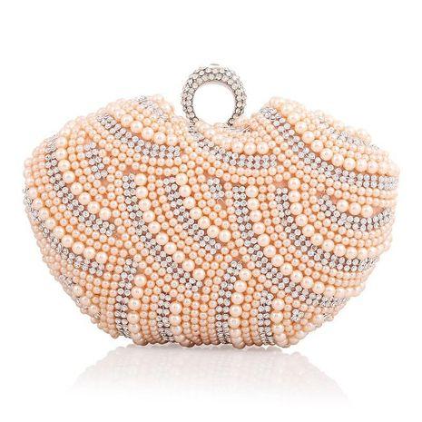 Nuevo bolso de perlas Bolso de banquete de noche lindo para embrague de mujer estilo Apple NHYG176845's discount tags