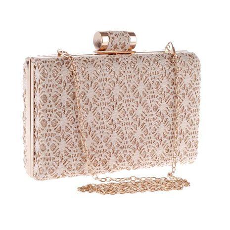 Nuevo bolso de embrague de encaje calado bolso de vestido de banquete de noche bolso de mujer de moda diagonal NHYG176850's discount tags