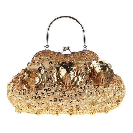 Bolso de cena artesanal tradicional vintage hecho a mano exquisito bolso con cuentas bolso de mujer NHYG176851's discount tags