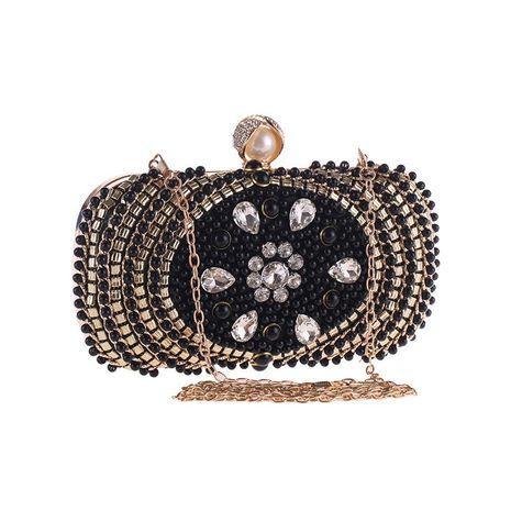 Bolso de noche de perlas bolso de embrague de mujer bolso cuadrado pequeño de moda bolso diagonal de hombro NHYG176852's discount tags