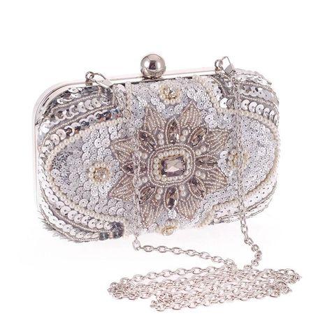 Bolso de noche de mano informal popular para mujer bolso bordado con cuentas y tachuelas de alta gama NHYG176865's discount tags