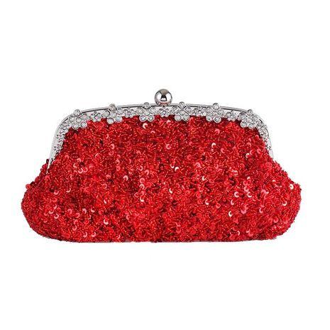 Nuevos bolsos de lentejuelas con tachuelas de diamantes bolso de oro rojo grande magnífico regalo de novia bolso retro NHYG176867's discount tags