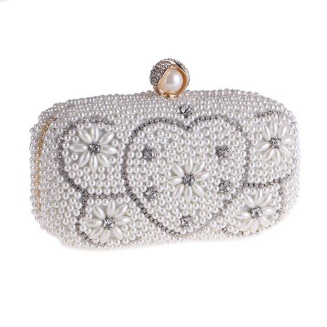 Banquete de perlas bolso en forma de corazón bolso cuadrado pequeño NHYG176868's discount tags