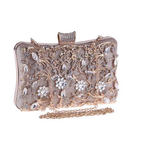 Hand bag female banquet bag openwork diamond evening dinner bag red carpet clutch NHYG176869's discount tags