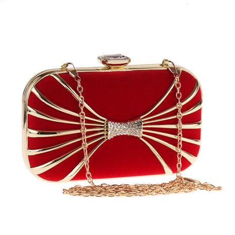 Bolso de mujer bolso de cena con bolso de embrague de diamantes bolso de embrague simple de terciopelo NHYG176873's discount tags
