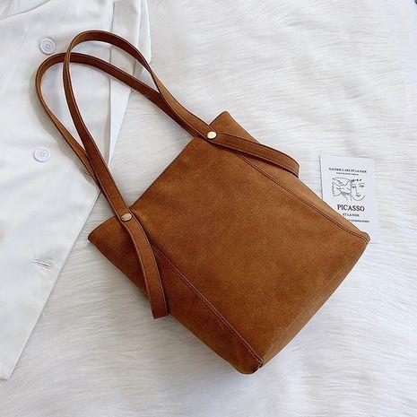 Versión coreana del nuevo bolso de hombro de gran capacidad para fregar el bolso simple NHTC176708's discount tags