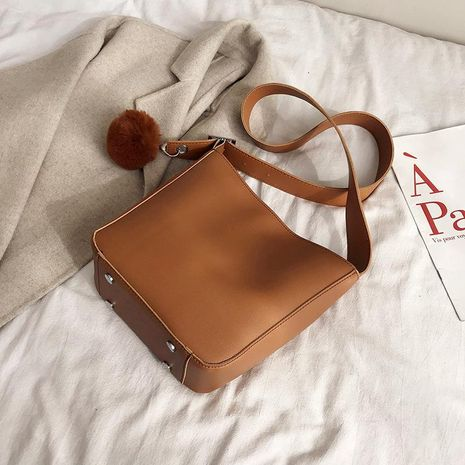 Bolso femenino nuevo bolso de hombro de textura simple bolso mensajero de moda NHTC176712's discount tags